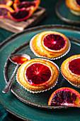 Vanilla and blood orange muffins