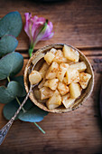 Sauteed cinnamon and maple syrup apples