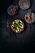 Asian style cucumber salad