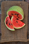 Sliced 'Ali Baba' watermelon