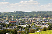 Petrisberg at Trier with a view of the cathedral, Rhineland-Palatinate, Germany
