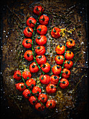 Roasted tomatoes on the vine