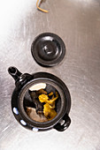 Japanese tea in a teapot
