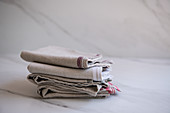 Folded linen towels