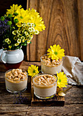 Millet cream with caramel