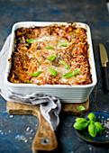 Vegetarian lasagne with tofu