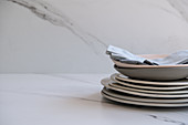 Plate Stack On Marble
