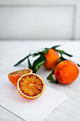 Blood oranges, sliced