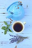 Sleep tea with lemon balm and lavender