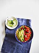 Vegane Fajita Bowl mit Cauli-Reis