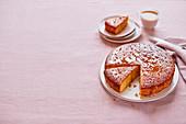 Orangen-Olivenöl-Kuchen mit Rosmarin-Drizzle
