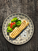Tortilla-Wrap mit Salat