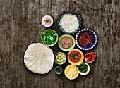 Zutaten für Tortilla-Wraps
