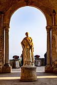 A statue of the Roman goddess Ceres in Villa Cimbrone in Ravello, Amalfi Coast, Italy