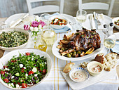 Slow cooked greek easter lamb