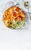 Chicken Pot Pie mit Frühlingskräutern