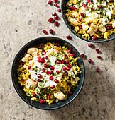 Spiced basmati rice cauliflower pomegranate