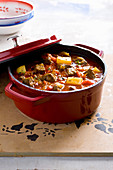 Hungarian sweet pepper goulash