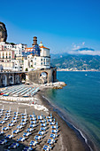 A view of Atrani from the main road, Amalfi Coast, Campania, Italy