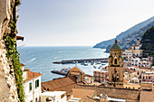 A view of Amalfi, Campania, Italy