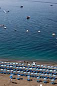 The beach in Positano, Campania, Italy