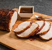 Apple-mustard glazed pork loin