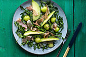 Melon salad with parma ham and rocket