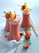 Strawberry and pineapple drinks