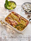 Lasagne mit Pesto und Sommergemüse