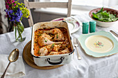 Roast chicken with chickpeas and paprika