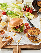 Burger with oat patty