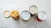 Hidden sugar found in legumes in jars and tins