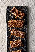 Muesli bars with chocolate