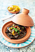 Tagine with beef, dates and salted lemons (Morocco)