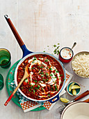 Vegetarian chilli con carne with rice
