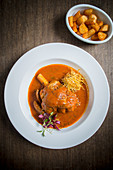 Lamb Shank Bhuna with Crisp Fried Potatoes (India)