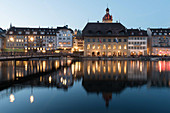 The town hall and the Am-Rhyn-Haus, Lucerne, Switzerland