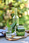 Homemade wild garlic tincture