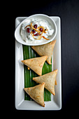 Indian Samosa with Raita