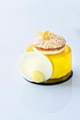 A lemon mousse cake