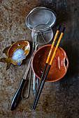 Asiatische Küchenutensilien