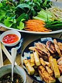 Füllungen für vietnamesische Frühlingsrollen