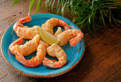 Beer-Battered Prawns being prepared