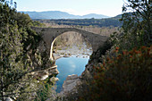 A medieval bridge in the province of Girona, Catalonia, Spain