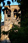 The bell tower in Besalú, Girona, Catalonia, Spain