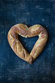 A heart-shaped baguette