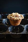 Muffin auf Muffinblech