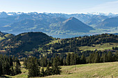 A mountain panorama, Lucerne, Switzerland