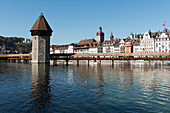 The water tower and Kapellbrücke (Chapel Bridge), Lucerne, Switzerland
