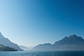 Lake Lucerne with Mount Pilatus in the background, Lucerne, Switzerland